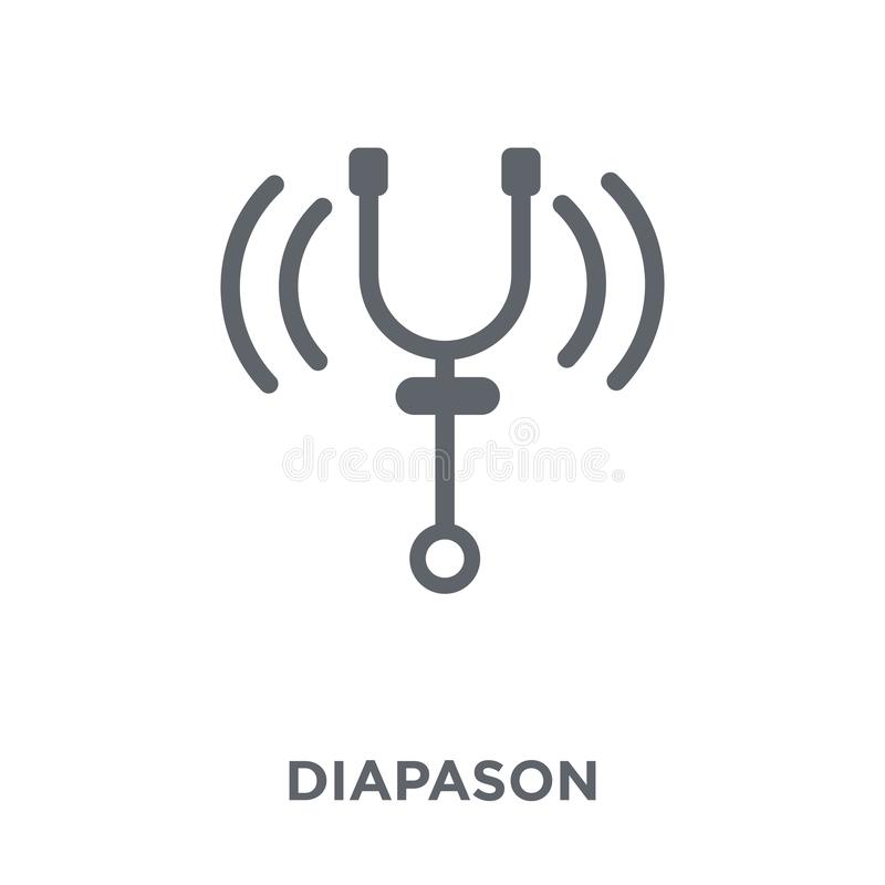 Diapason icon from Music collection. Diapason icon. Diapason design concept from Music collection. Simple element vector illustration on white background royalty free illustration