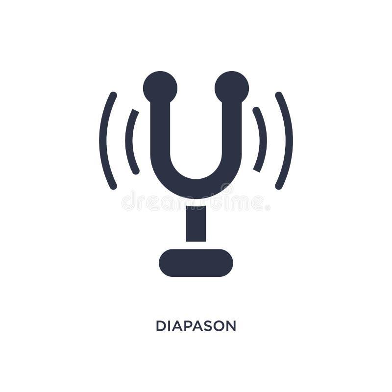 Diapason icon on white background. Simple element illustration from music concept. Diapason icon. Simple element illustration from music concept. diapason vector illustration