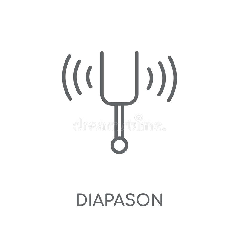 Diapason linear icon. Modern outline Diapason logo concept on wh. Ite background from Music collection. Suitable for use on web apps, mobile apps and print media stock illustration