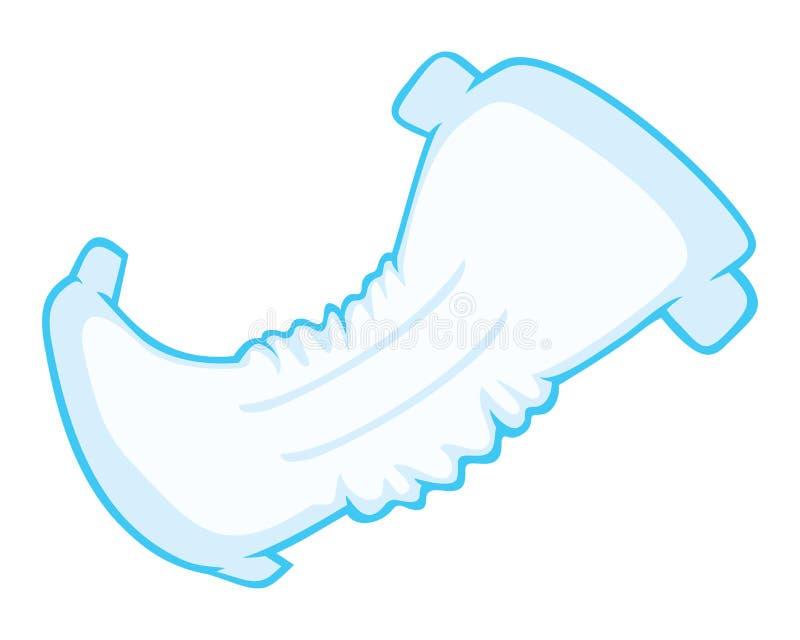 Diaper vector illustration
