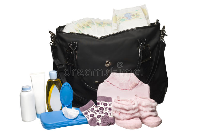 Download Diaper Bag stock image. Image of changing, pink, parenting - 23838187
