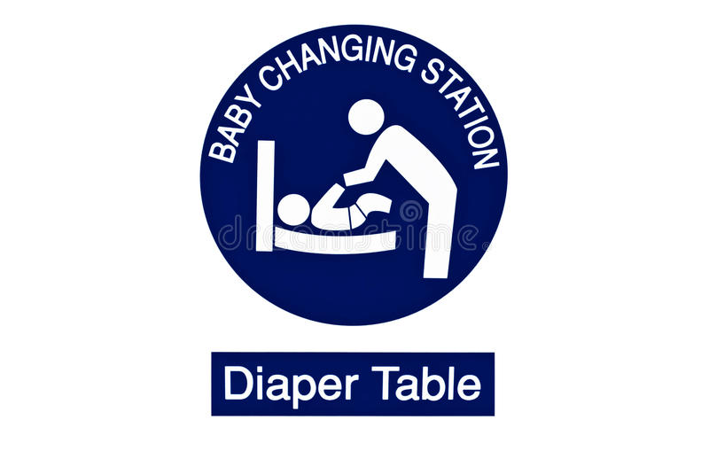 Diaper change symbol royalty free stock image
