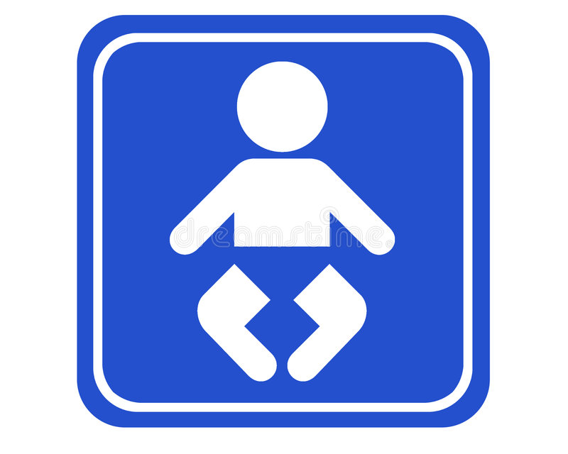 Diaper-changing room stock photography