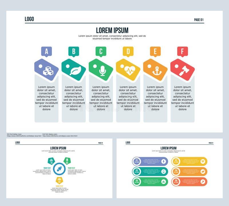 Diapositiva de la presentación de la insignia y plantilla determinadas de PowerPoint ilustración del vector