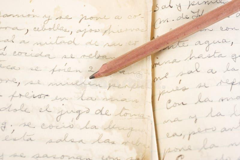 Diario imagen de archivo libre de regalías