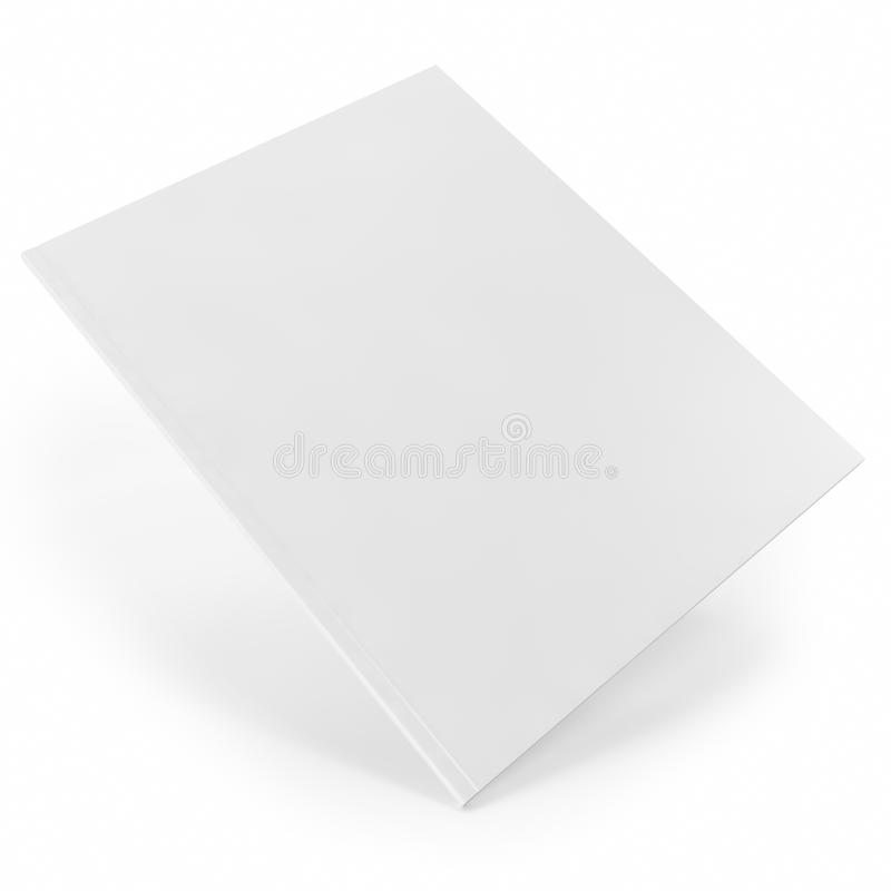 Diario blanco cercano, revista con las páginas en blanco ilustración del vector