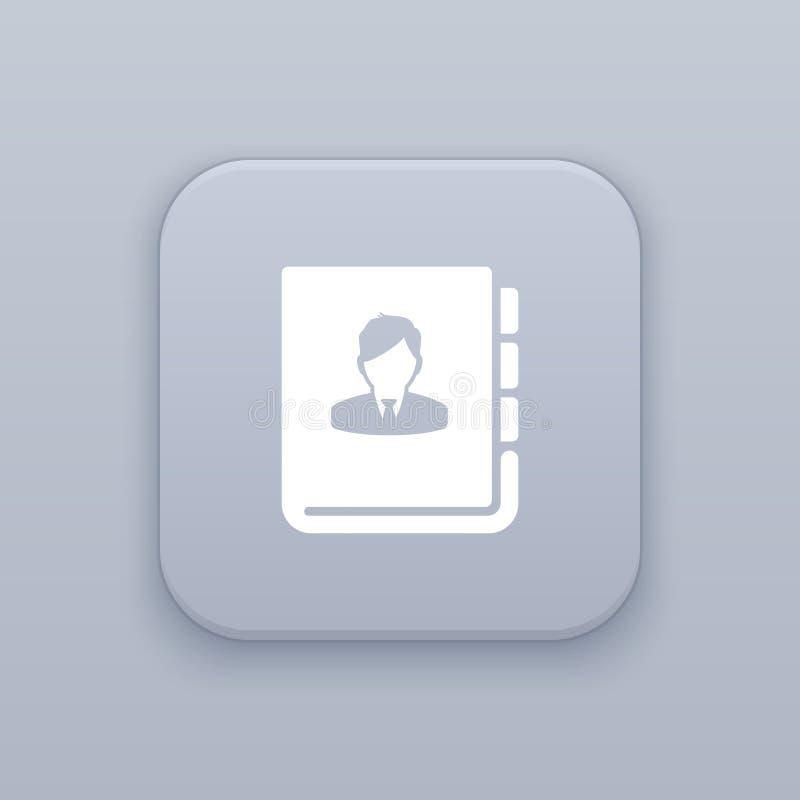 Diario, botón personal del cuaderno, el mejor vector stock de ilustración