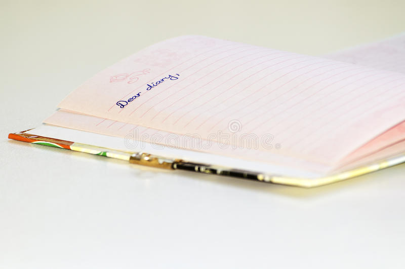 Diario caro fotografie stock
