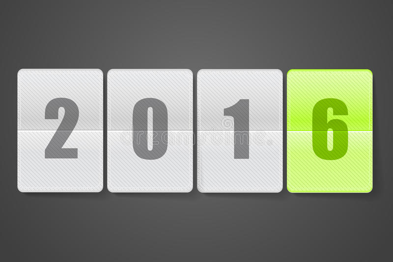 Diario con los dígitos Feliz Año Nuevo libre illustration