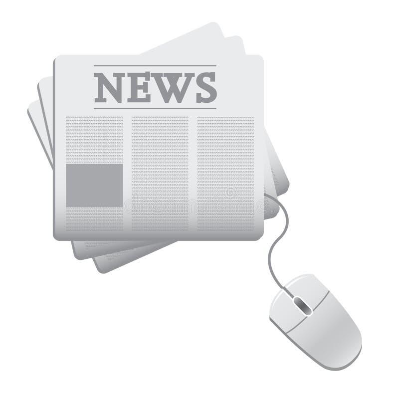 Diario de las noticias del Web ilustración del vector