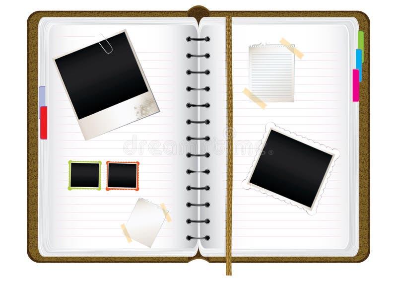 Diario del libro de recuerdos ilustración del vector