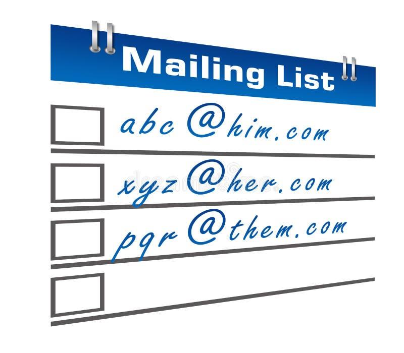 Diario dell'elenco di indirizzi royalty illustrazione gratis
