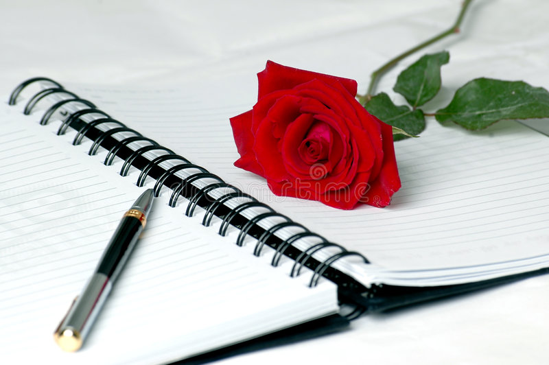 Diario di amore fotografie stock libere da diritti
