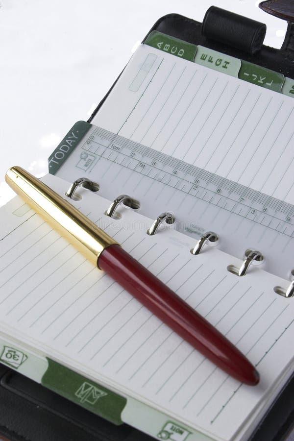 Diario e penna immagini stock