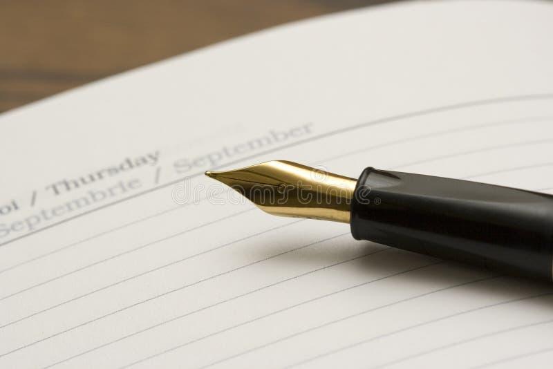 Diario e penna immagine stock