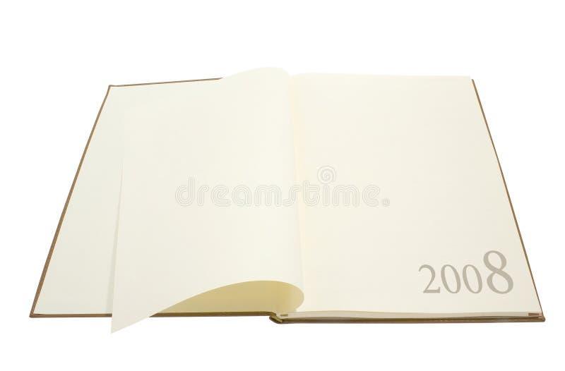 Diario/pianificatore 2008 fotografie stock libere da diritti