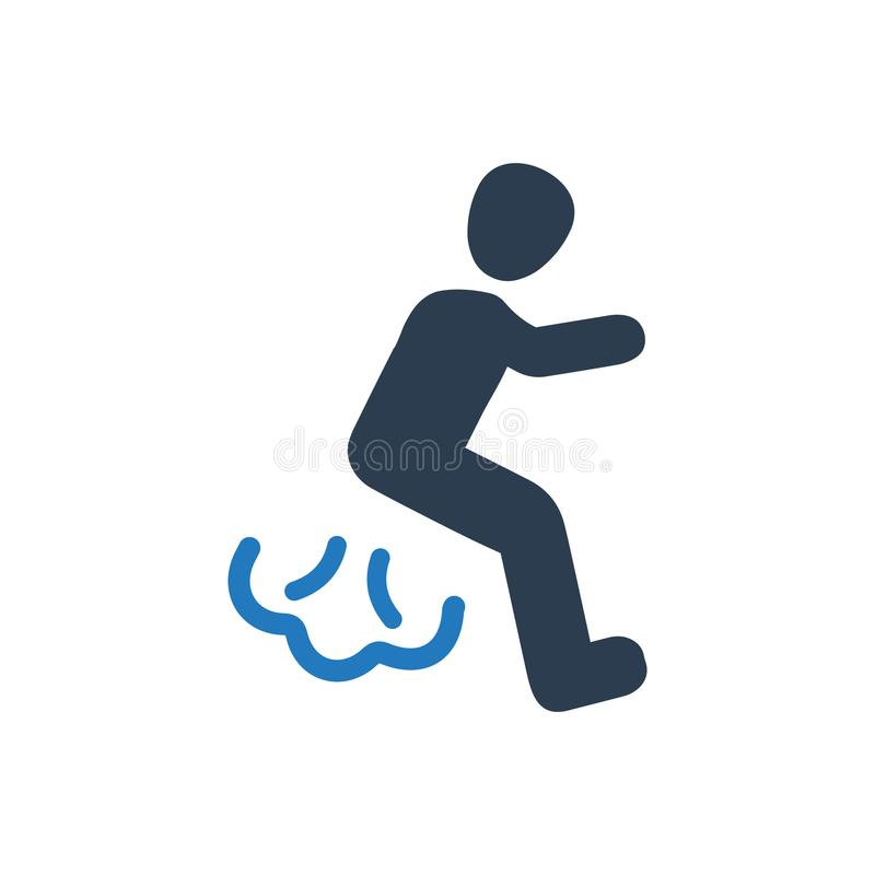 Diarree/fart Pictogram stock illustratie