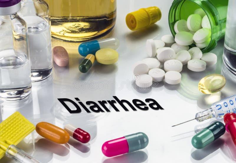 Diarrhöe, Medizin als Konzept der gewöhnlichen Behandlung stockbilder