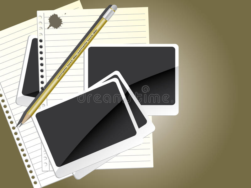 Download Diary stock vector. Illustration of photo, book, illustration - 10915276