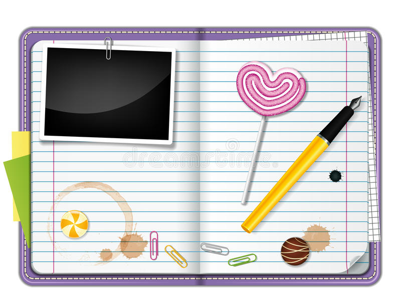 Diary stock illustration