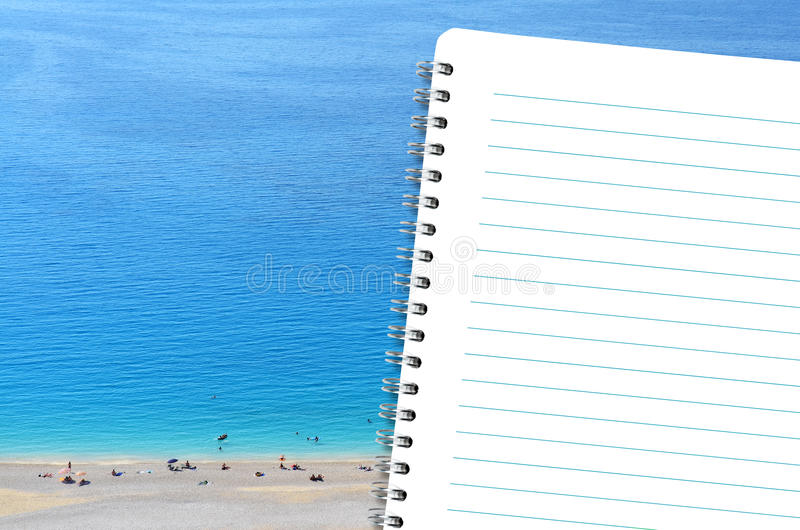Download Diary and the beach stock photo. Image of lefkas, blank - 25859166