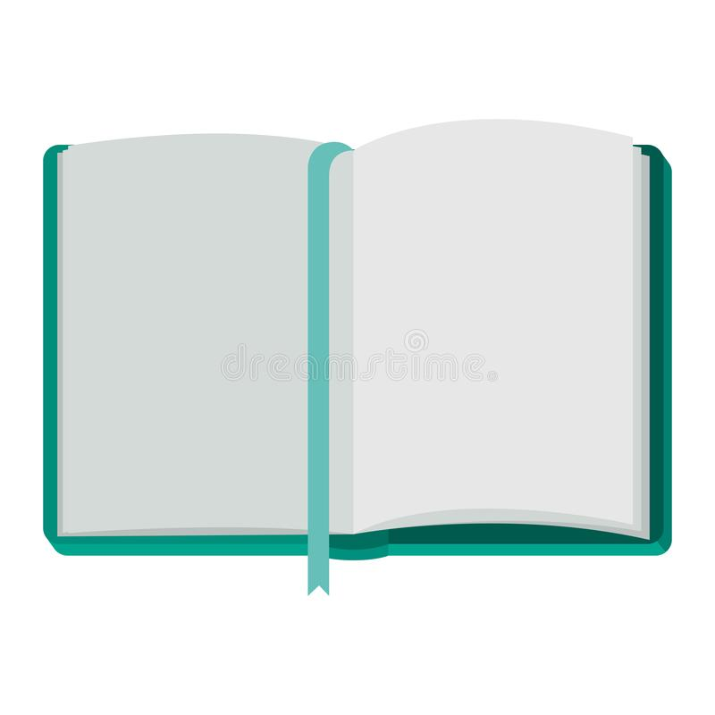 Diary open with ribbon. Vector illustration design royalty free illustration