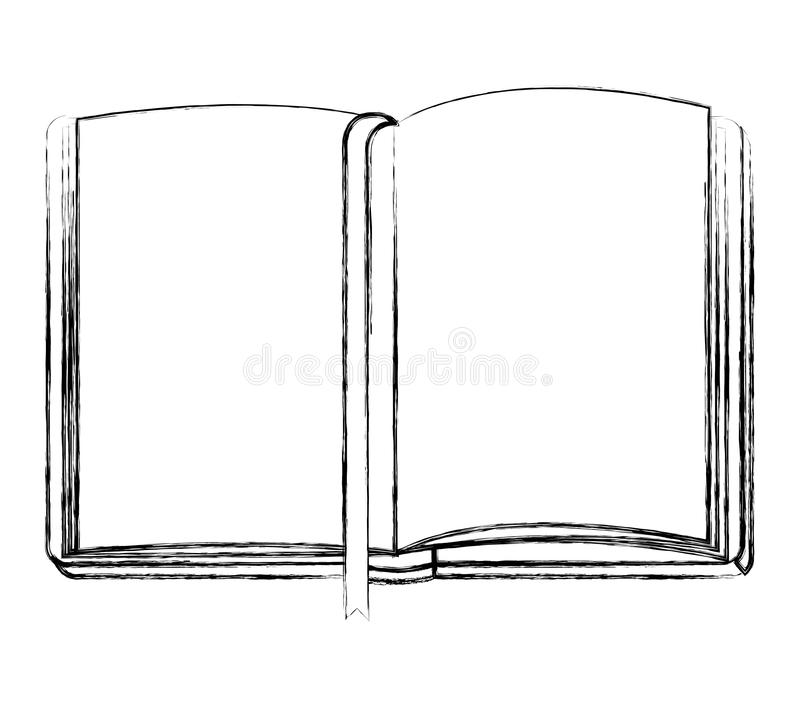 Diary open with ribbon. Vector illustration design stock illustration