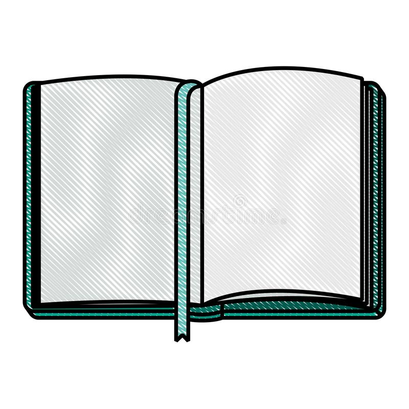 Diary open with ribbon. Vector illustration design vector illustration
