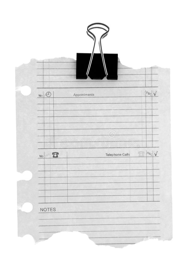 Diary page stock photography
