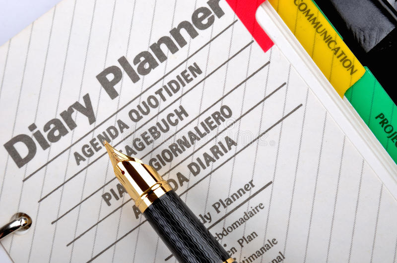Download Diary and plan stock photo. Image of still, notepad, plan - 18247216
