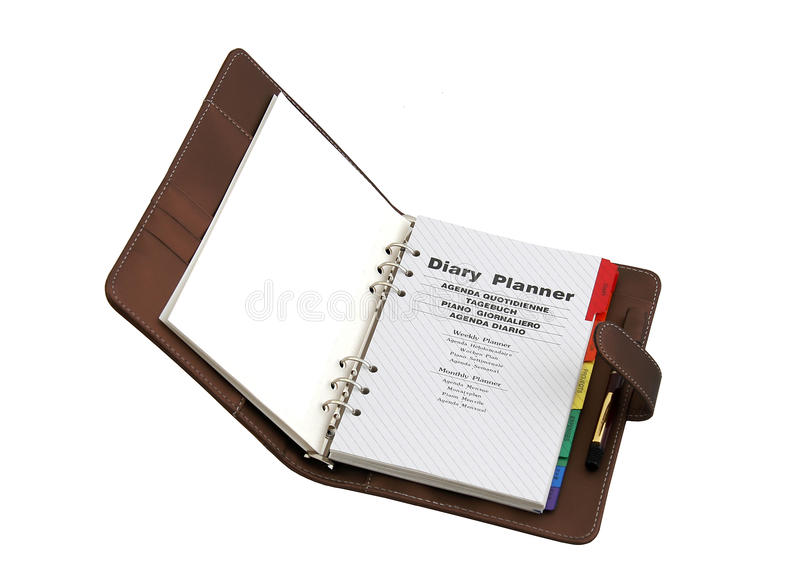 Diary planner royalty free stock photos