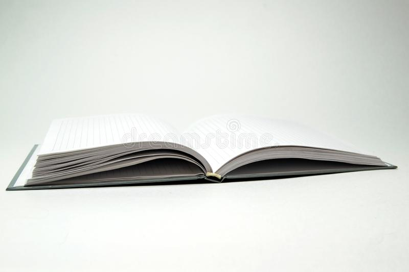 Diary on a white background stock images