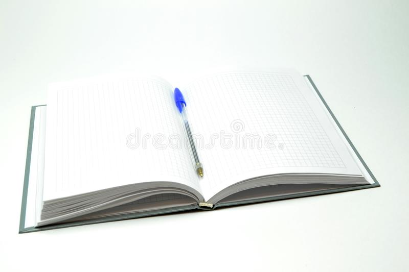 Diary on a white background stock photography
