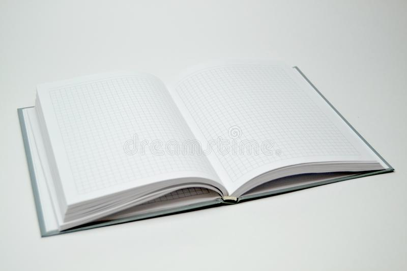 Diary on a white background royalty free stock image