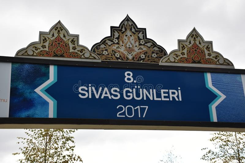Dias 2017 Ä°stanbul de Sivas, Turquia fotos de stock