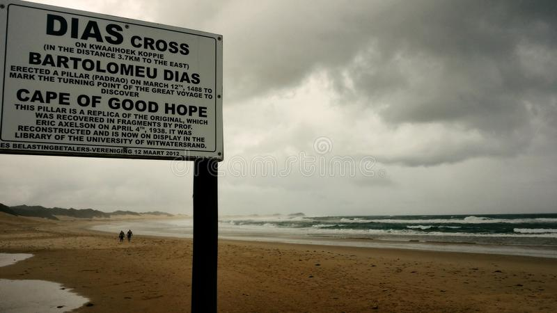 Dias Cross - Boknesstrand lizenzfreies stockbild