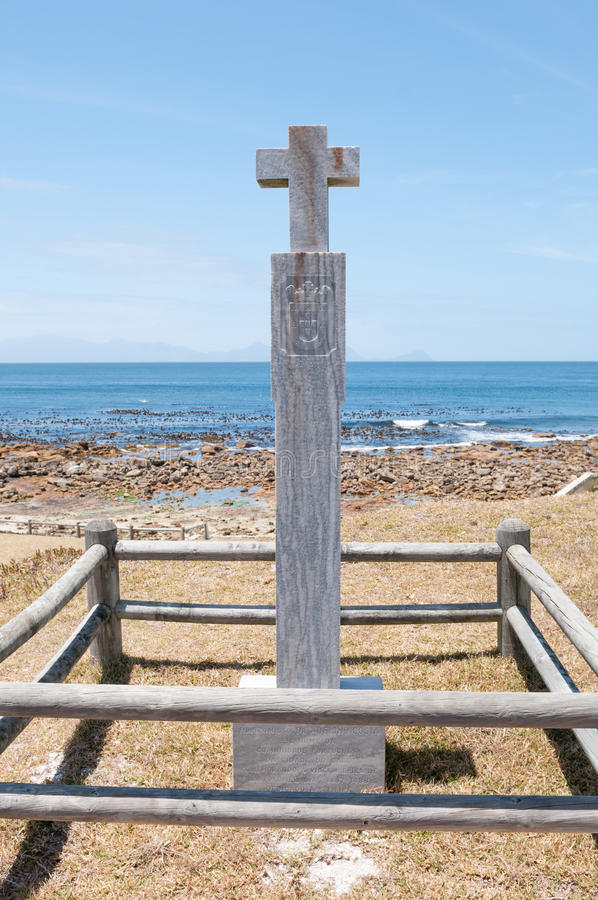 Dias cross at Bordjiesrif near Cape Point royalty free stock images