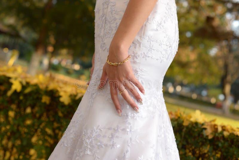 Dias do outono no casamento conservado em estoque fotos de stock royalty free