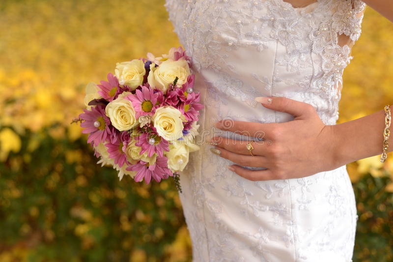 Dias do outono no casamento conservado em estoque imagem de stock royalty free