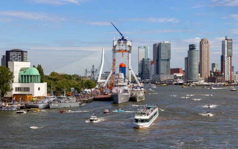 Dias do porto do mundo da cidade de Rotterdam fotografia de stock royalty free