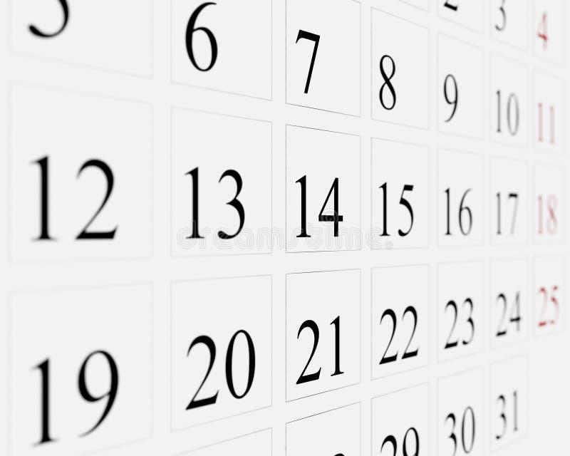 Dias no calendário ilustração do vetor