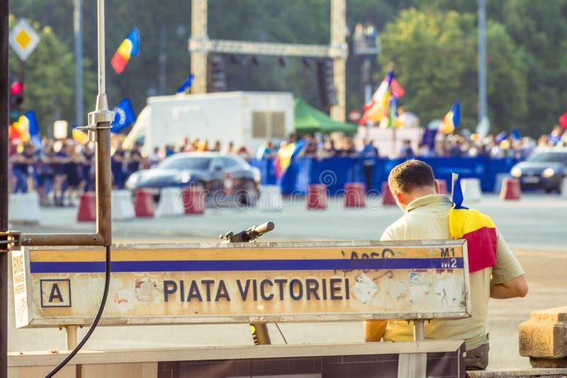 Diaspora protest w Bucharest przeciw rz?dowi obraz royalty free