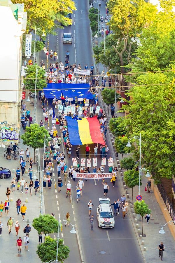 Diaspora protest w Bucharest przeciw rz?dowi obrazy stock