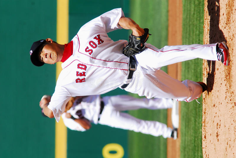 Diasuke Matsuzaka, Boston Red Sox. Boston Red Sox pitcher Diasuke Matsuzaka royalty free stock photos