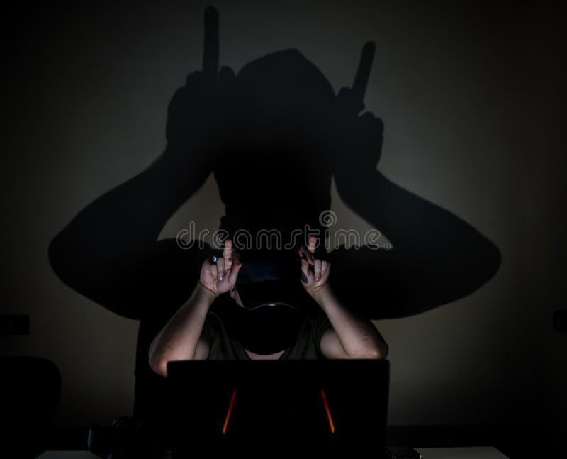 Diavolo cyber di Internet fotografia stock libera da diritti