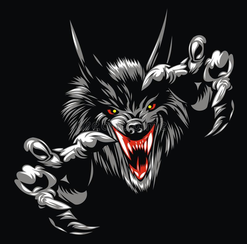 Diavolo del lupo royalty illustrazione gratis