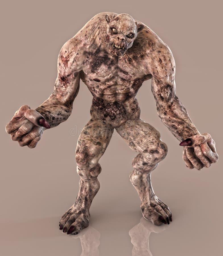 Diavolo dello zombie del non morto royalty illustrazione gratis