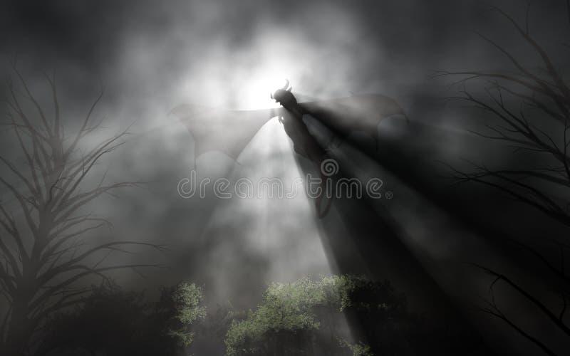Diavolo nella notte illustrazione vettoriale