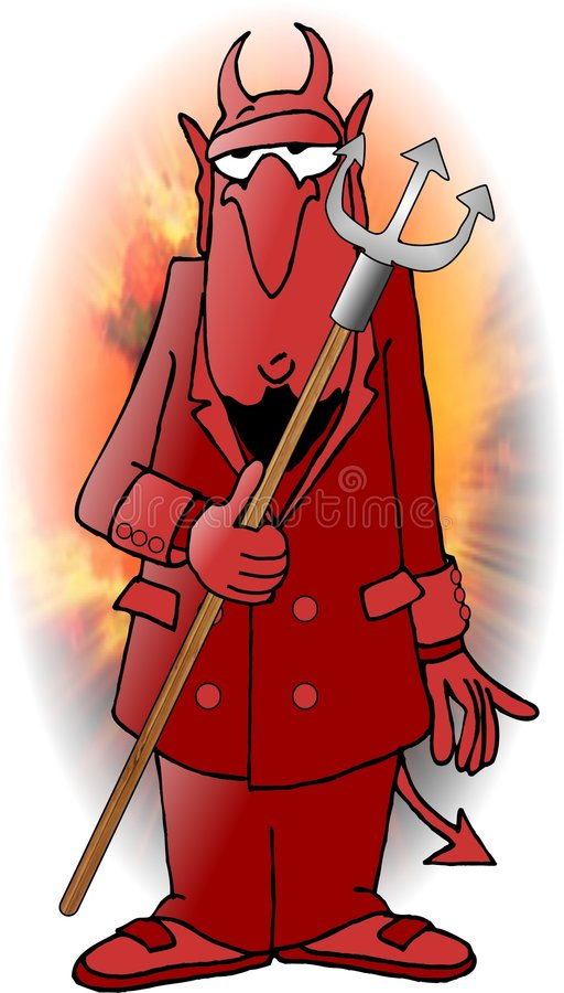 Diavolo rosso illustrazione vettoriale