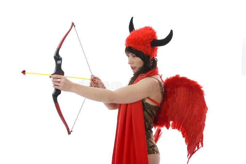 Download Diavolo Sessuale Della Donna Immagine Stock - Immagine di giù, signora: 3891181
